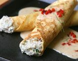 Crab Stuffed Crepes with Maryland Style Gravy