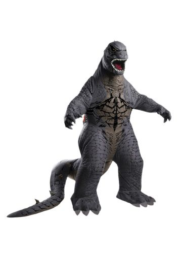 It's the terror no one expected! This Deluxe Inflatable Adult Godzilla Costume turns you into an unspeakable monster who just can't seem to leave Tokyo alone.