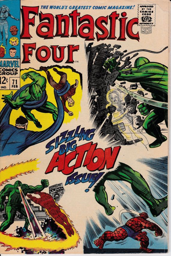 Fantastic Four 1961 1st Series 71 February 1968 by ViewObscura, $18.00