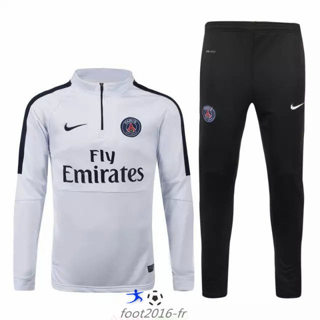 soldes nouveau survetement equipe de foot psg blanc 2015. Black Bedroom Furniture Sets. Home Design Ideas