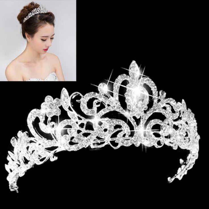 pas cher femmes lgantes de mariage de marie cristal diadme couronnes princesse reine de reconstitution historique - Diademe Mariage Pas Cher