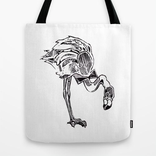 Flamingo Tote Bag by Marie-Ève Arpin - Art on Society6  http://society6.com/product/call-me-mister-flamingo_bag#26=197