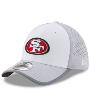 New Era San Francisco 49ers Training 39THIRTY Cap - White M/L