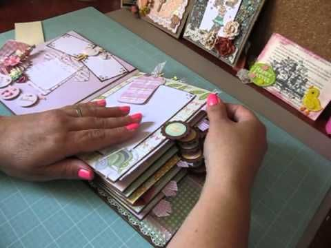 How to Bind the Shabby Chic Printable Mini Album - YouTube