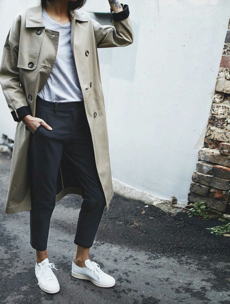 trench coat & elevated street style