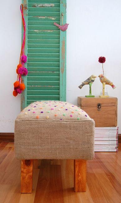 Divino para ese rinconcito especial que tenés en casa...  Conseguí tela de arpillera al por mayor y por menor en--> www.telavendo.com.ar