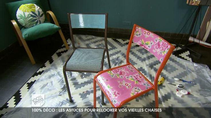 relooke chaise toile cire