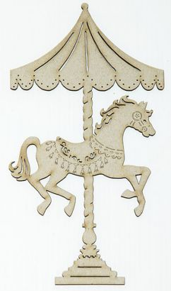 Chipboard carousel horse, could be painted any color to match theme, $3.50 each from Srapbook Valley