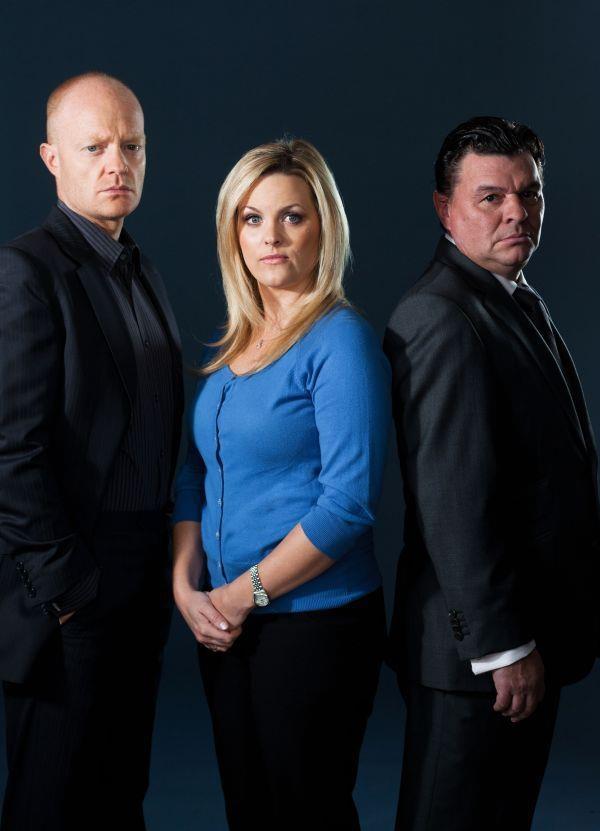Max, Tanya and Derek Branning! Eastenders! <3