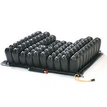 The  Roho Contour® Select  Cushion sets the standard in the industry for overall performance in wheelchair seating. The contoured design combined with the simple operation of the ISOFLO Memory Control Unit provides a new level of postural control and stability that has never been achieved in an air cushion.