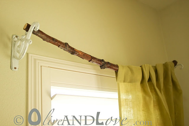 branch curtain rod cool idea pinterest