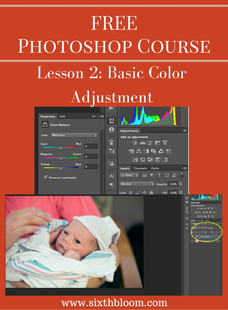 Photoshop Course: Basic Color Adjustments. This free photoshop tips and tutorials course will step you through the basics in photoshop editing.