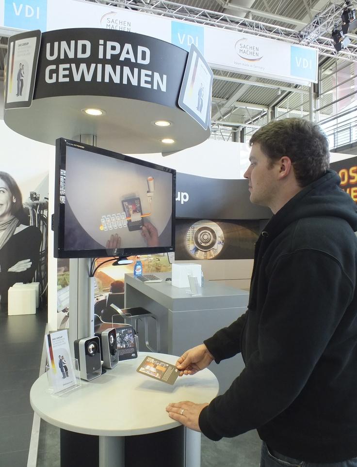 - Grosses bewegt auf der Hannover Messe 2012  -  Buena La Vista realisiert für die SMS group ein interaktives Recruiting Gewinnspiel mit der neuen Augmented Reality Technologie.