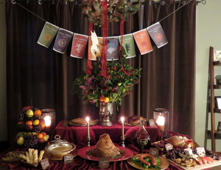 1000 ideas about dinner party games on pinterest for Decoration murale game of thrones