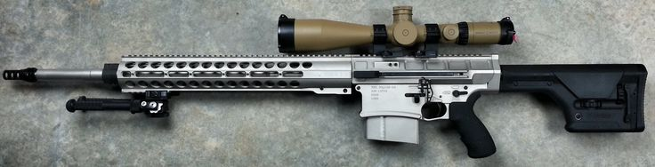 DRD Tactical KIVAARI AR-Type Quick-Takedown Semi-Auto .338 Lapua Magnum Anti-Materiel Sniper Rifle