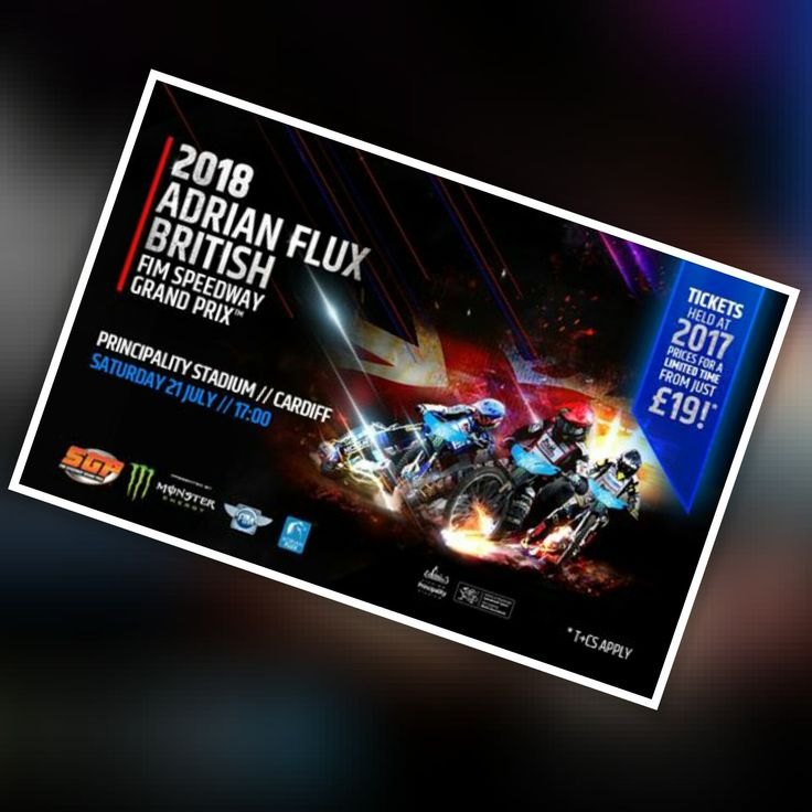 Get Tickets for Adrian Flux British FIM Speedway Grand Prix 21/07/18 Principality Stadium, Cardiff at See Tickets http://tidd.ly/1ec192d3