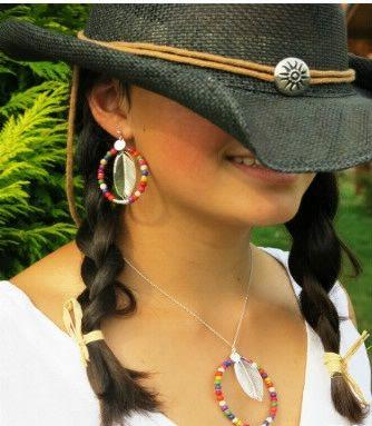 """Boucles : Boucles d'oreilles """"Cheyenne"""" Brin d'Amour"""