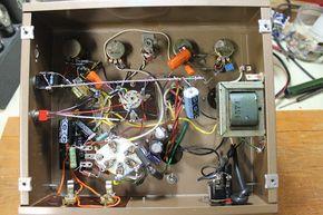Amplifier gut shot. Replaced everything except transformers, choke, and buss bar ground scheme.