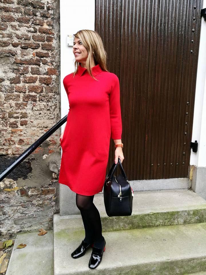Mix & Match! Tas en schoenen van Marc Cain gecombineerd met een jurk van Natan | HB MODE, Ommen: Fashion in Overijssel