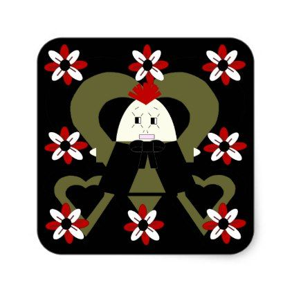 Its Raining Doll Parties Hawk Family Sticker