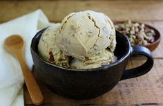 BLACK WALNUT ICE CREAM WITH BROWN SUGAR AND CINNAMON Rich, smooth, creamy and lightly spiced. A delicious way to use your wild black walnuts!