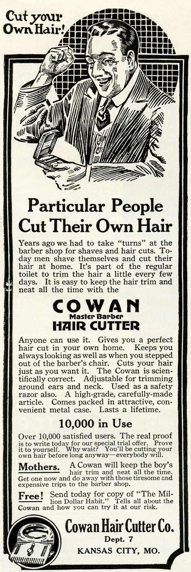 Old Design Shop ~ Cowan hair cutter vintage ad
