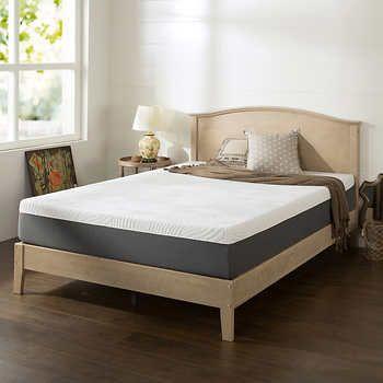 blackstone set10u201d memory foam queen mattress u0026 platform bed