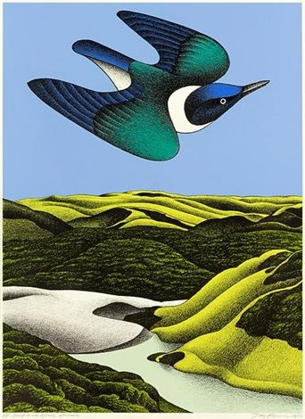 Swoop of the Kotare, Wainamu by Don Binney