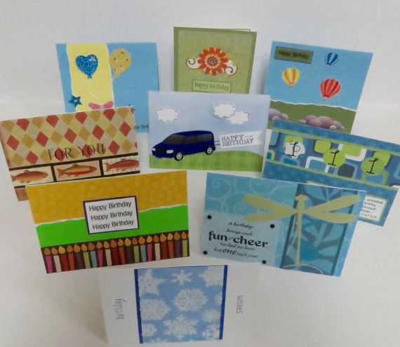 Set Of Nine Christian Birthday Cards With Scripture by stufffromtrees on Etsy
