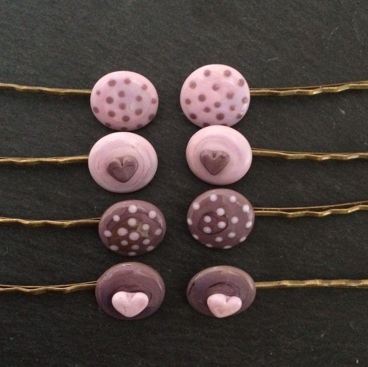 Hårspänne med handgjorda pärlor - Webbshop