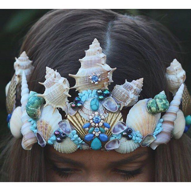 mermaid crown @chelseasflowercrowns