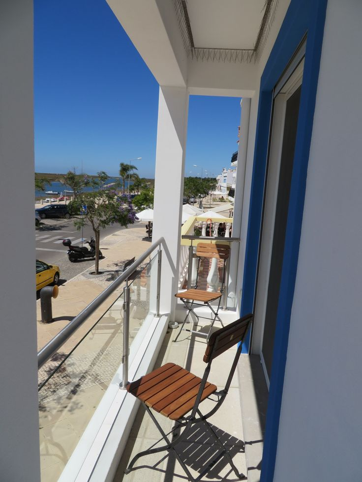 The balcony at the front of our Andorinha Apartment. Just relax and watch the world and it's passengers pass by.