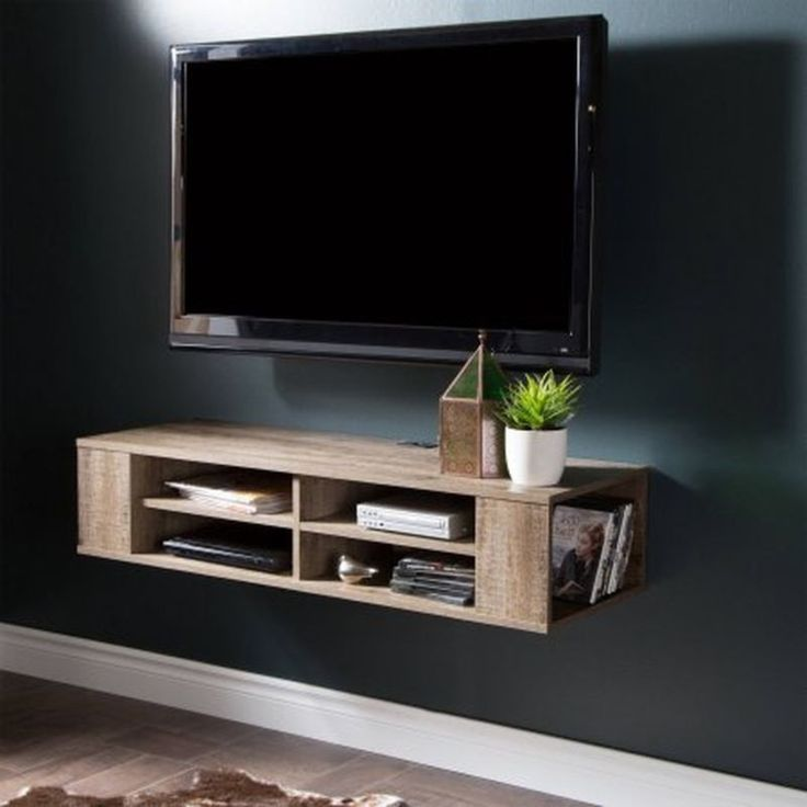 wall mount media center shelf floating console tv stand cabinet