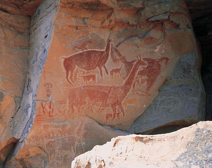 Los pictograbados de la Cueva de Taira, Loa, Chile