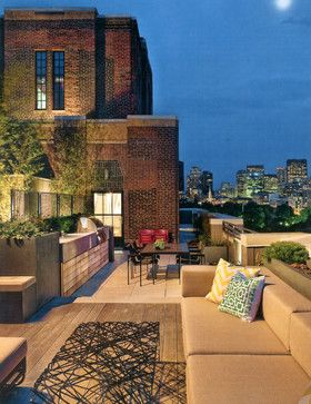 Urban Roof Decks & Terraces - transitional - Deck - Boston - Gregory Lombardi Design