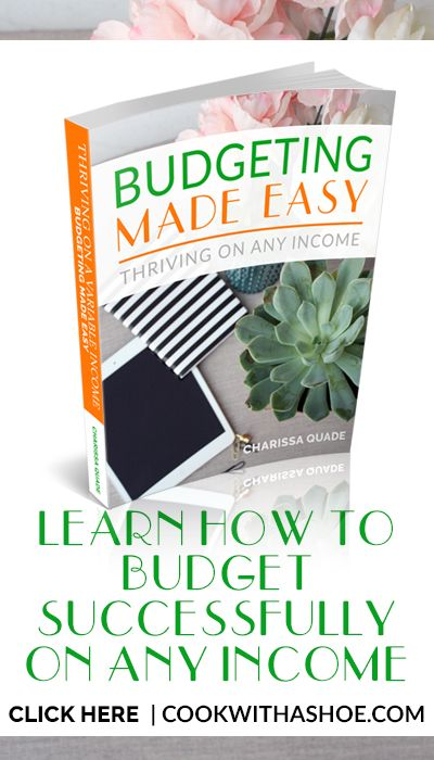 Budgeting Made Easy: Thriving on Any Income - Cook With a Shoe http://www.cookwithashoe.com/budget-made-easy/?utm_campaign=coschedule&utm_source=pinterest&utm_medium=Charissa%20%40Cook%20With%20A%20Shoe&utm_content=Budgeting%20Made%20Easy%3A%20Thriving%20on%20Any%20Income%20-%20Cook%20With%20a%20Shoe You CAN have a successful budget and reduce your money stress! Click through to see how it is possible! --budget, budgeting, saving money, save money, budget 2017, paying off debt, debt free…