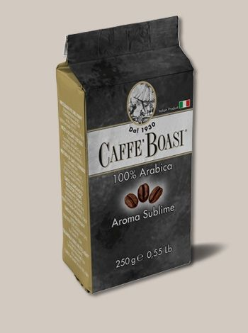 Caffè Boasi 100% Arabica Aroma Sublime - An evanescent acidity blend of coffee for refined tastes. PACKAGES: 250 gr