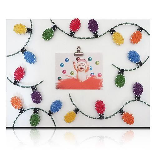 Christmas Lights Picture Frame String Art Kit