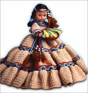 """Original pinner said, """"Do Fun! Projects - Harvest Moon free crochet pattern for 13 inch doll"""