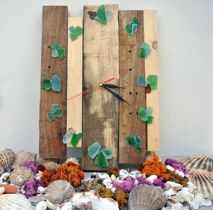 Sea glass clock (full tutorial on our website)