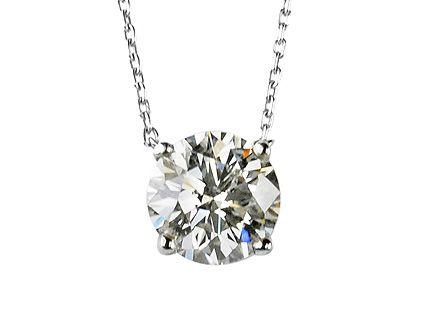 Single Diamond Pendants Necklace