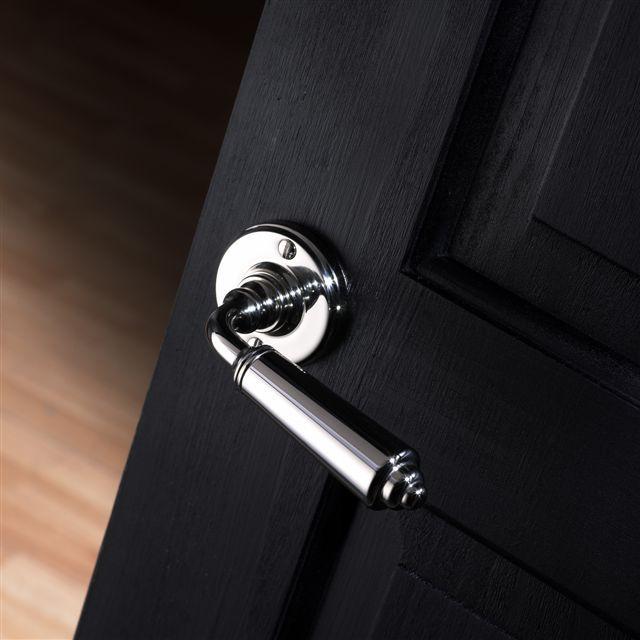 Polished nickel lever handle from Samuel Heath. Birmingham, UK. #architecture #design