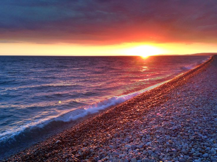 Chesil beach, Isle of Portland, Dorset, UK