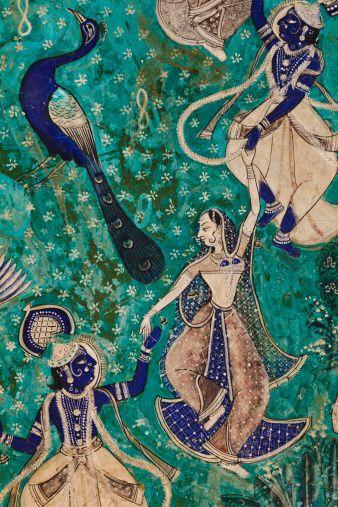 Murals Inside The Garh Palace Of Bundi Stock Photo 156897050