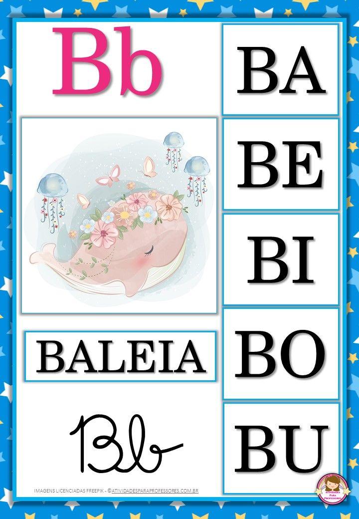 Lindo Alfabeto Com Familia Silabica Azul Para Imprimir Imagens Do Alfabeto Familia Do Alfabeto Alfabeto