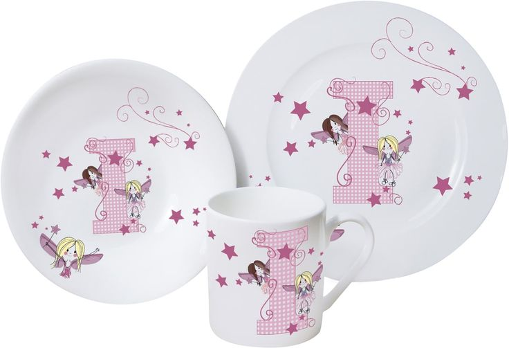 A bone china breakfast set that features pretty patterns and a cute fairy design.