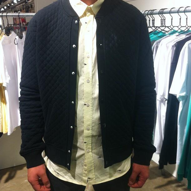 Organic Quilted Varsity Jacket #aquestionof #ss13 #organiccotton