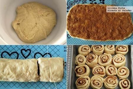 Rollitos Canela Pasos  Los conocidos comocinnamon rollsson una auténtica delicia a la que no me puedo resistir. por eso, cuando me encontrécon esta recetaderollitos de canela en tan solo una horame faltó tiempo para probarla en casa, y estoy muy contenta con los resultados.  Ingredientes para 12 rollitos  Para la masa: 145 g de harina de trigo, 200 g de harina de fuerza, 1 sobre de levadura de panadería seca, 50 g de azúcar, 25 g de mantequilla sin sal, 1 huevo l, 120 ml de agua, 60 ml…