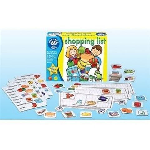 Shopping List memory Educational Game by Orchard Toys - Available at Kids Mega Mart Online Shop Australia