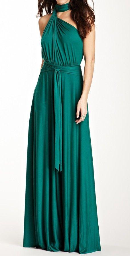 Emerald Convertible Dress / Rachel Pally